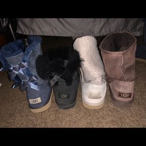 4 different ugg boots all size 9.